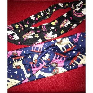 Unicorn and Llama headbands